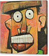 Man With Terracotta Hat And Green Shirt Canvas Print