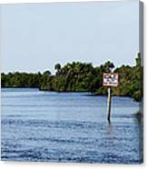 Manatee Zone Canvas Print
