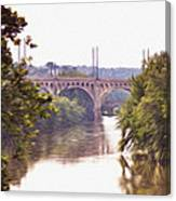 Manayunk Bridge Along The Schuylkill River Canvas Print