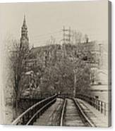 Manayunk From The Tressel Tracks Canvas Print