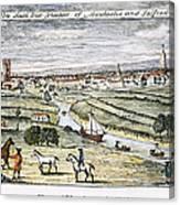 Manchester, England, 1740 Canvas Print
