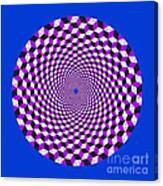 Mandala Figure Number 5 With Rhombus Steps In Black And White And Purple Canvas Print