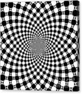 Mandala Figure Number 9 With Black And White Circles Canvas Print