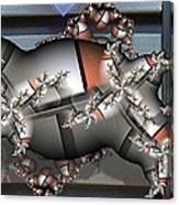 Mandelbrot Meets Mondrian Canvas Print