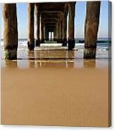 Manhattan Beach Pier Paddler Canvas Print