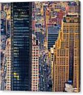 Manhattan Streets From Above Canvas Print
