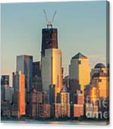 Manhattan Sunset Reflections Canvas Print