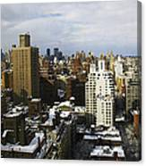 Manhattan View On A Winter Day Canvas Print