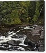 Manido Falls 5 Canvas Print