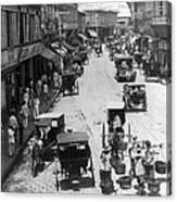 Manilla - Philippine Islands - Escolta Street Scene - C 1901 Canvas Print