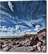 Manorbier Rocks Big Sky Canvas Print