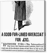 Mans Overcoat, 1888 Canvas Print