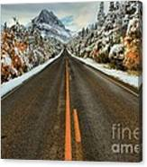 Many Glacier Road Canvas Print