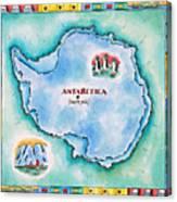 Map Of Antarctica Canvas Print