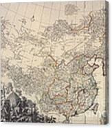 Map Of China, 1734 Canvas Print