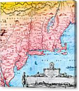 Map Of New Netherland, 1650s Canvas Print