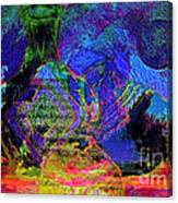 Mapped In Time  Pottery Collection Canvas Print