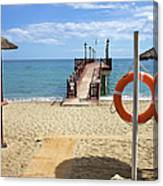 Marbella Beach In Spain Canvas Print
