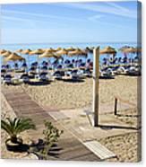 Marbella Holiday Beach Canvas Print