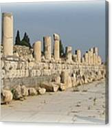 Marble Street In Ephesus Canvas Print