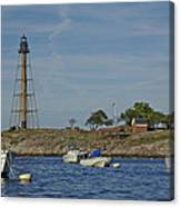 Marblehead Lighthouse From The Water Canvas Print