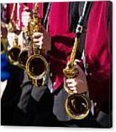 Marching Band Saxophones Cropped Canvas Print