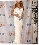 Mariah Carey Wearing A Ysa Makino Gown Canvas Print