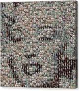 Marilyn Monroe Bubble Glass Mosaic Canvas Print