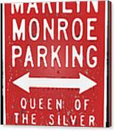 Marilyn Monroe Parking Canvas Print