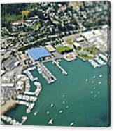 Marina And Coastal Community Canvas Print