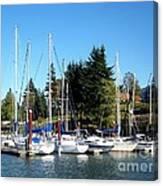 Marina At Cascade Locks Canvas Print