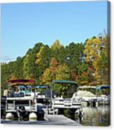 Marina In Fall Canvas Print