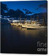 Marina With Fishing Boats Canvas Print
