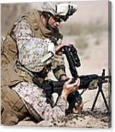 Marine Gives Instructions On How Canvas Print