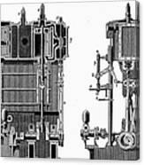 Marine Steam Engine, 1878 Canvas Print