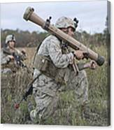 Marines Conduct A Simulated Attack Canvas Print