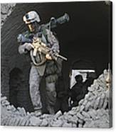 Marines Conduct Combat Operations Canvas Print