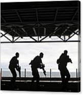 Marines Conduct Rifle Movement Drills Canvas Print