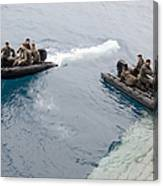 Marines Depart The Well Deck Canvas Print