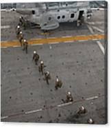 Marines Embark A Ch-46e Sea Stallion Canvas Print