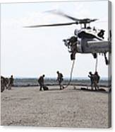 Marines Fast-rope Onto Their Objective Canvas Print