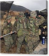 Marines Load A 98-pound High Explosive Canvas Print