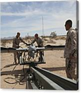 Marines Place An Rq-7 Shadow Unmanned Canvas Print