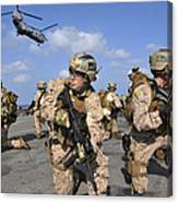 Marines Position Themselves Canvas Print