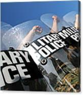 Marines Practice Riot Control Canvas Print