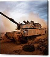 Marines Roll Down A Dirt Road Canvas Print