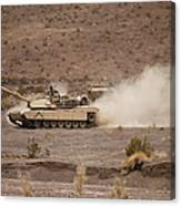 Marines Roll Through The Combat Center Canvas Print