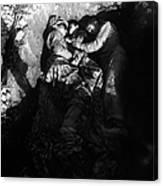 Marines Share A Foxhole With An Orphan Canvas Print