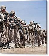 Marines Verify The Battle Sight Zeroes Canvas Print