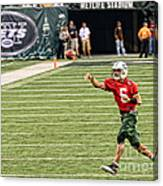 Mark Sanchez Ny Jets Quarterback Canvas Print
